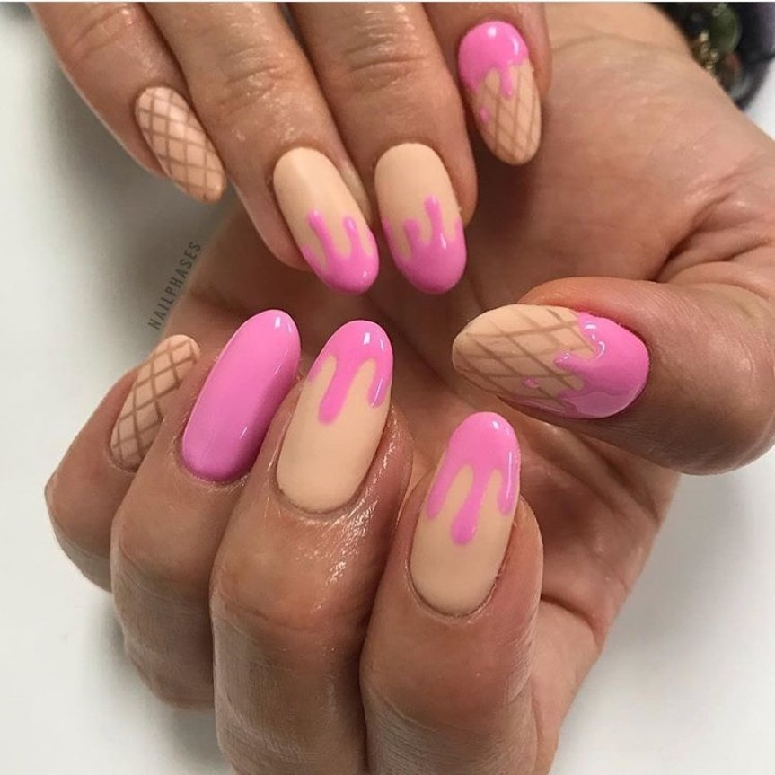 unghie nail art gelato