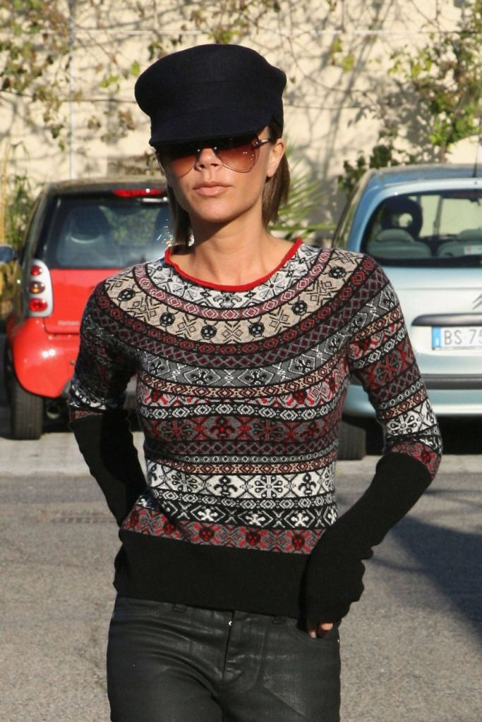 victoria bekcham fair isle sweater