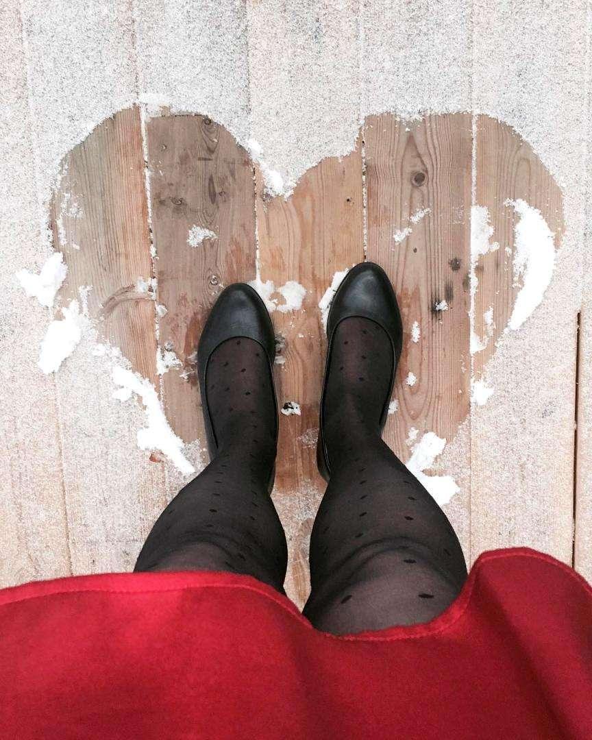 cuore nella brina