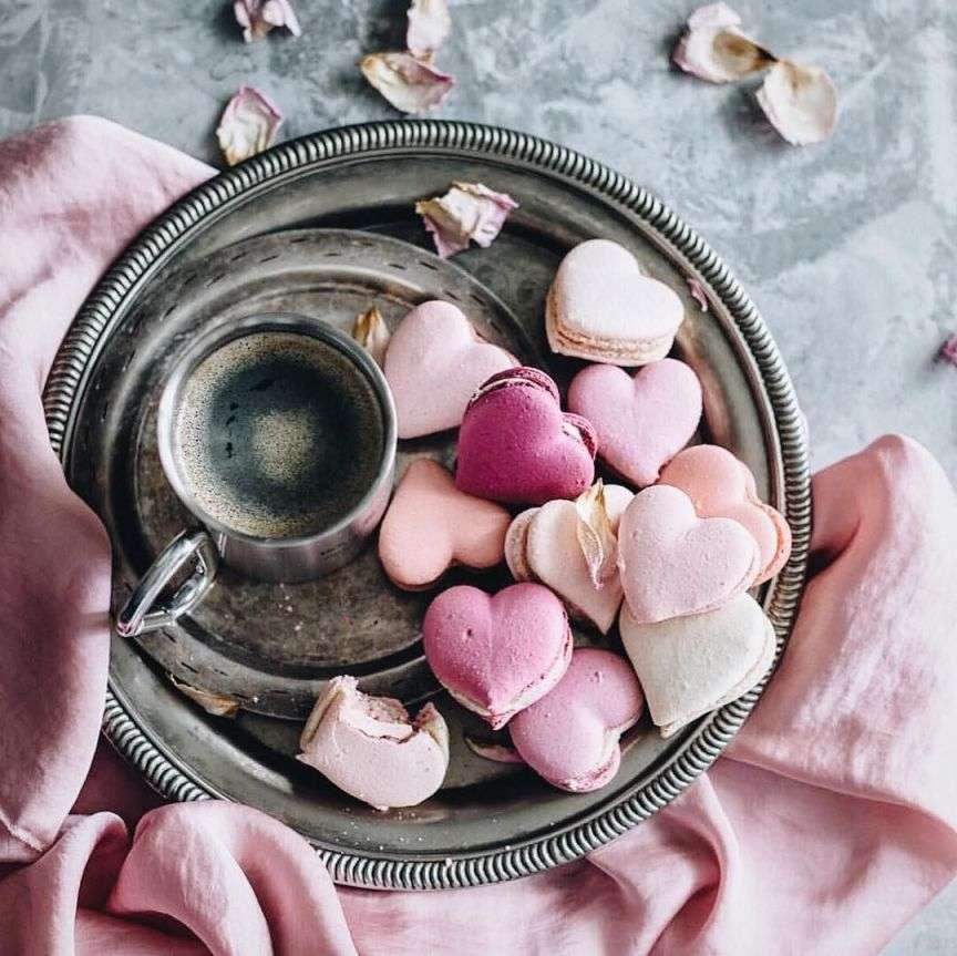 macaron a forma di cuore
