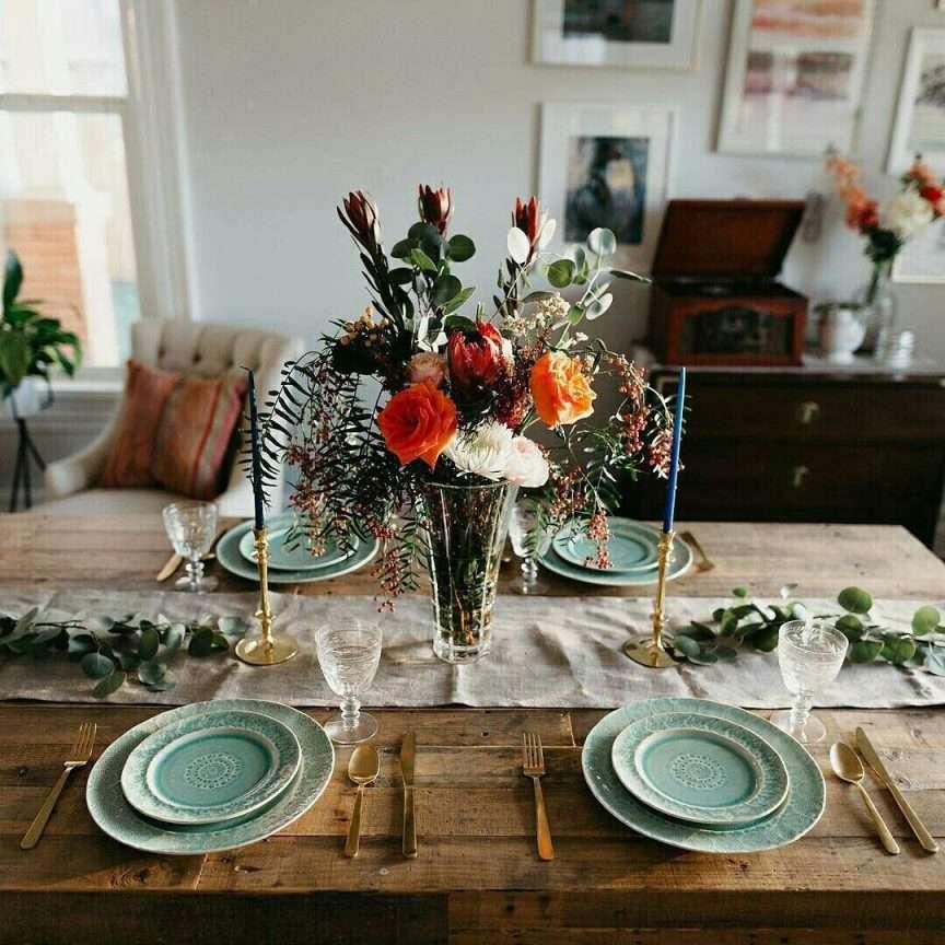 decorare la tavola in primavera