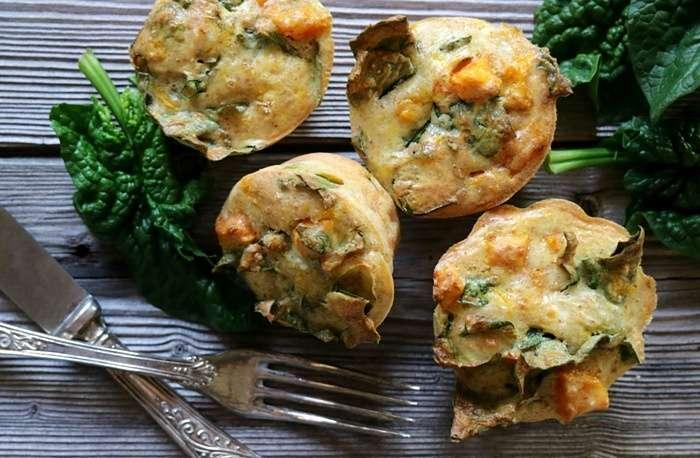muffins feta e spinaci