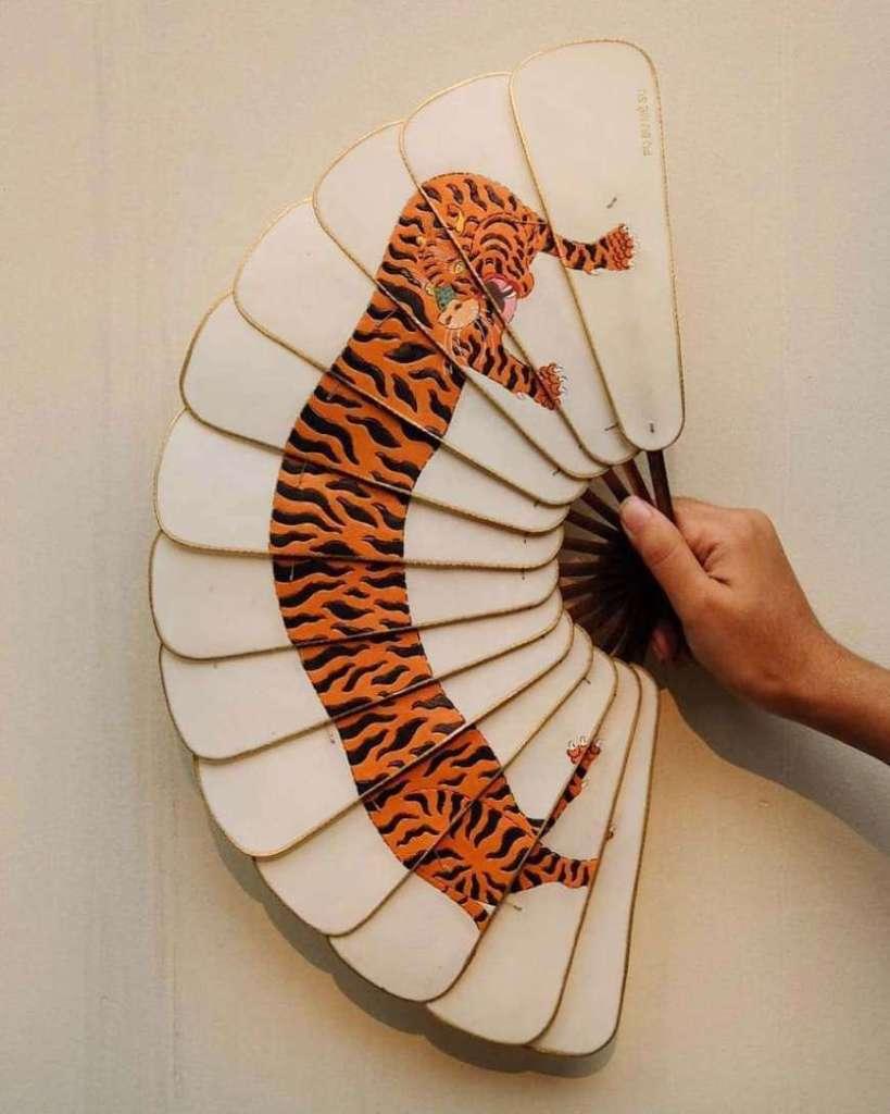 ventaglio tigre