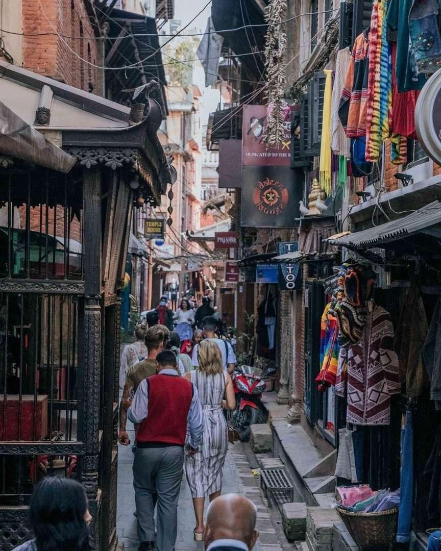 Tra i mercati di Kathmandu con le  app da viaggio