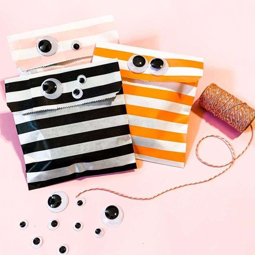 halloween sacchetti di carta colorati