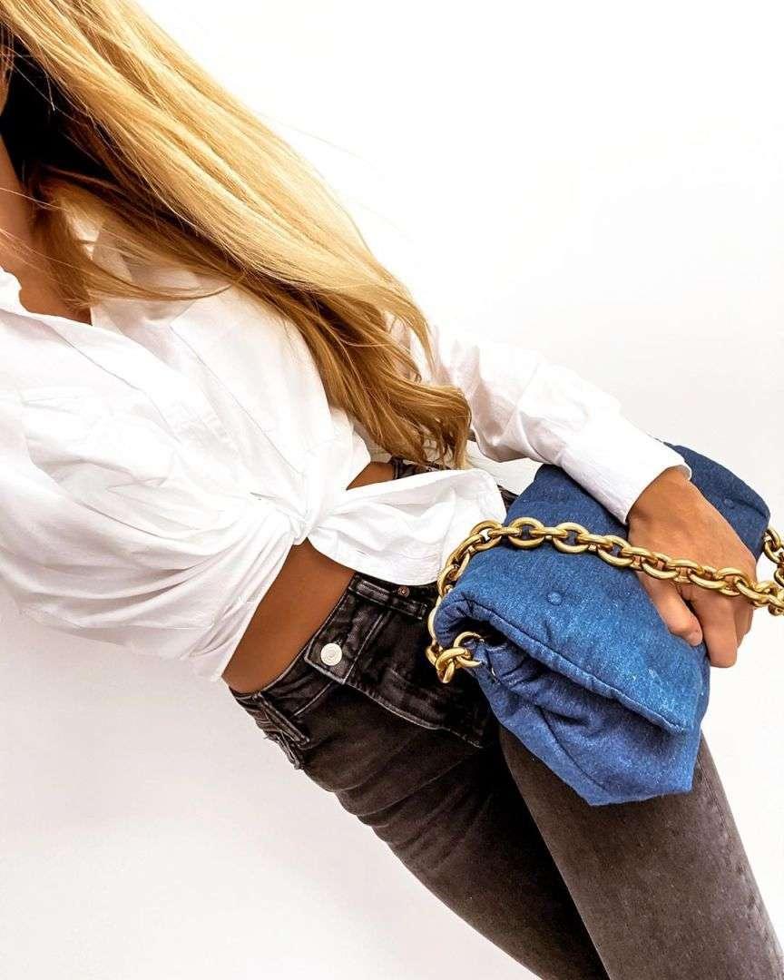 zara bag jeans