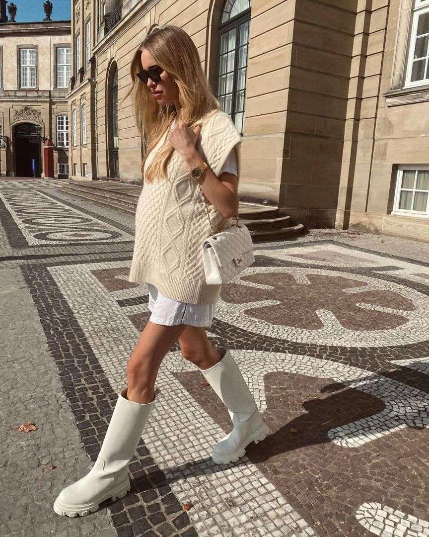 street style bianco e panna