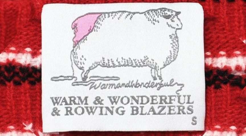 Warm & Wonderful & Rowing Blazers label