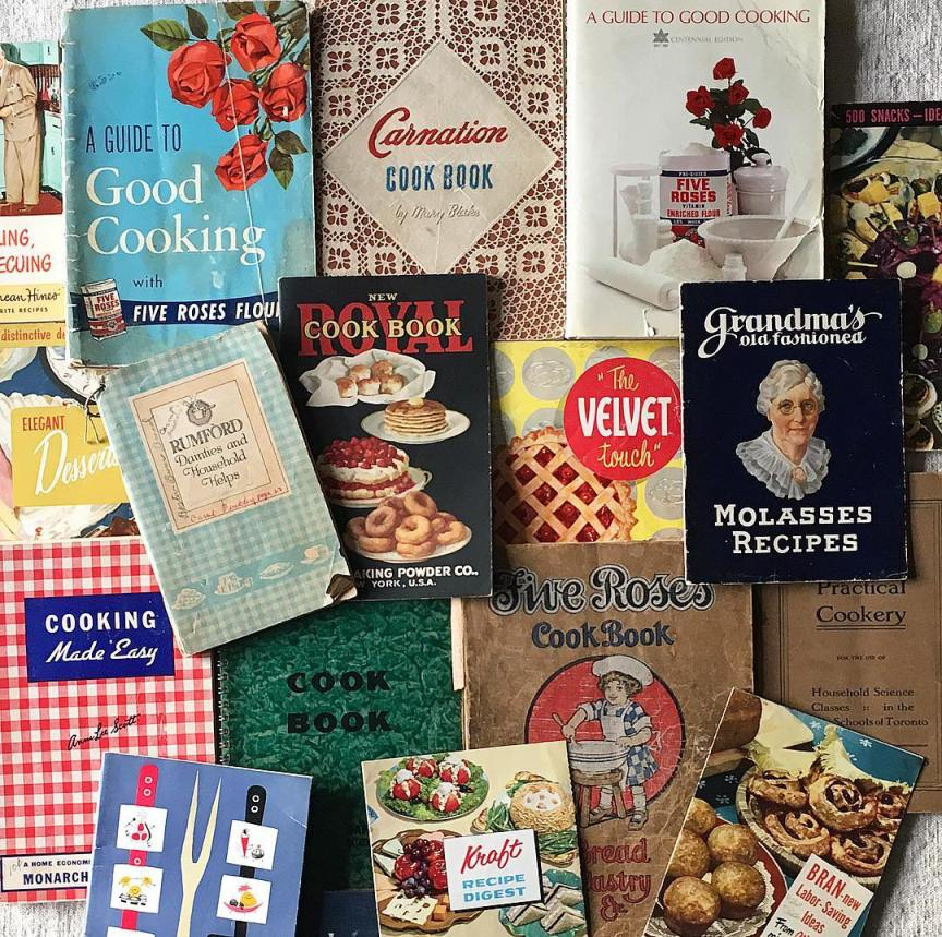libri di cucina vintage