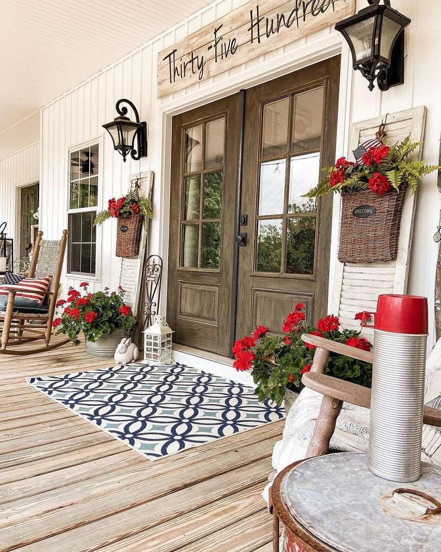 Portico con tappeto zerbino