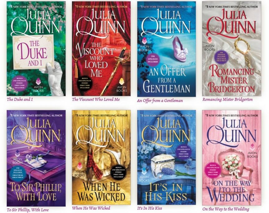 bridgerton libri di julia quinn
