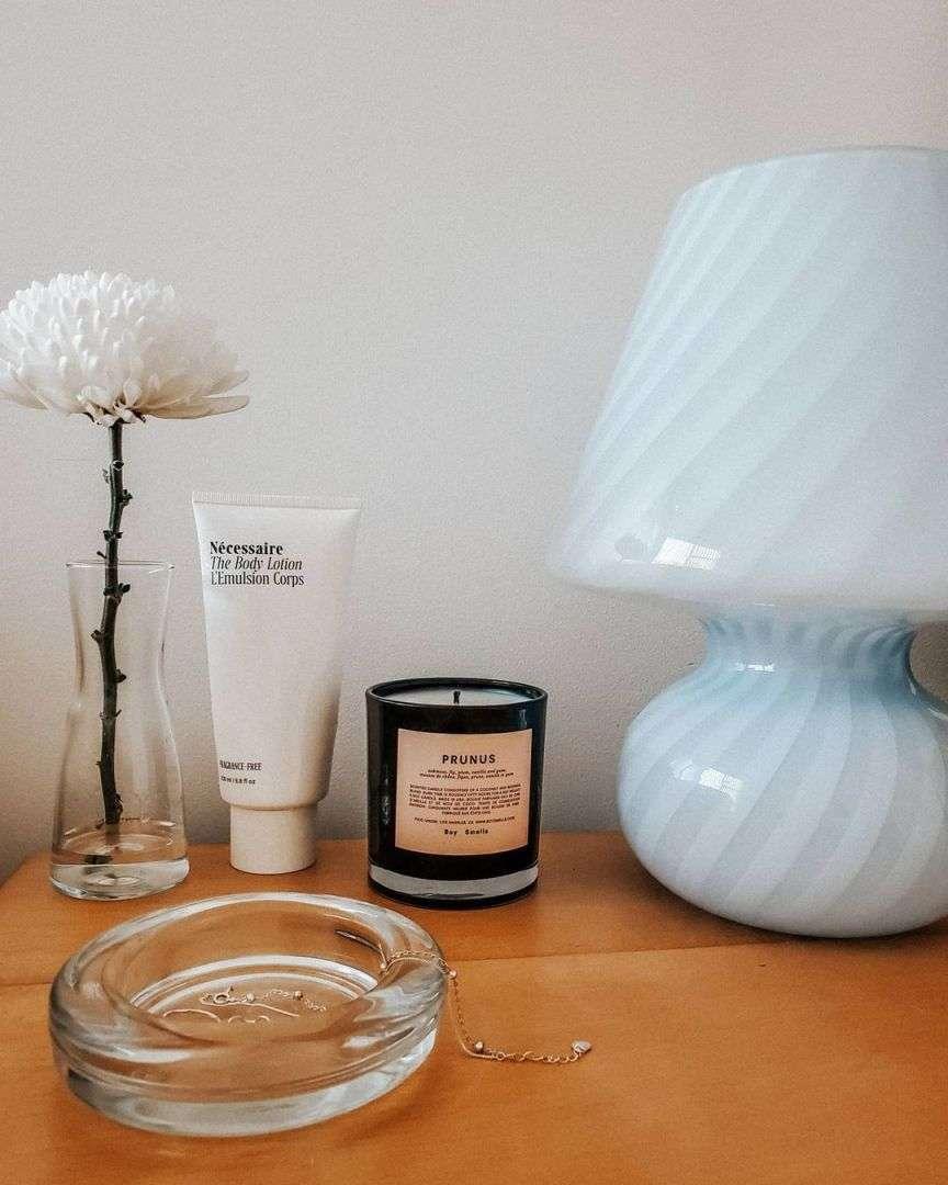 lampada a fungo in vetro di murano