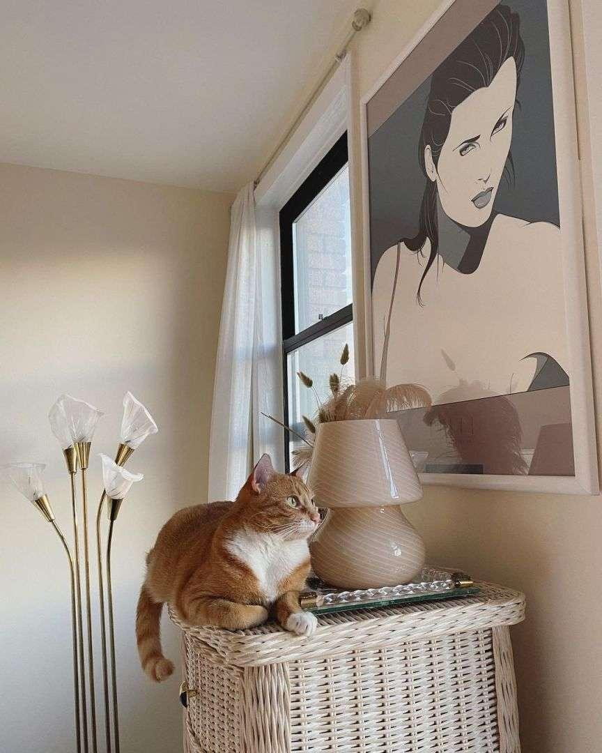 lampada di murano con gatto