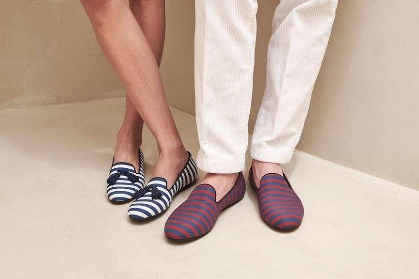 scarpe con righe