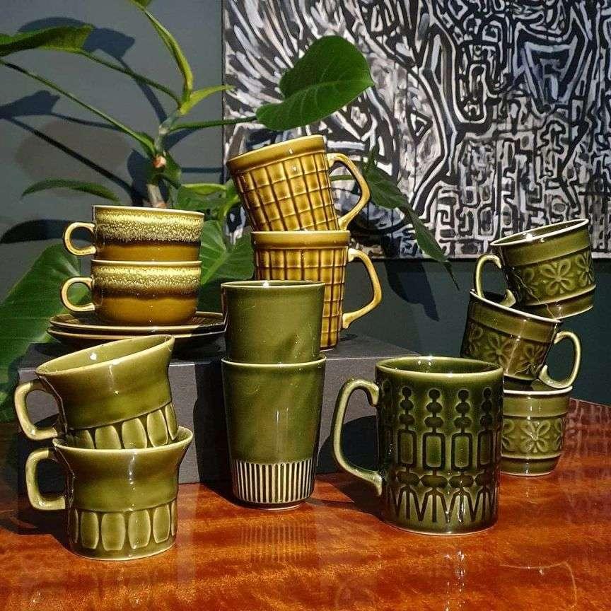 tazze ceramica vintage