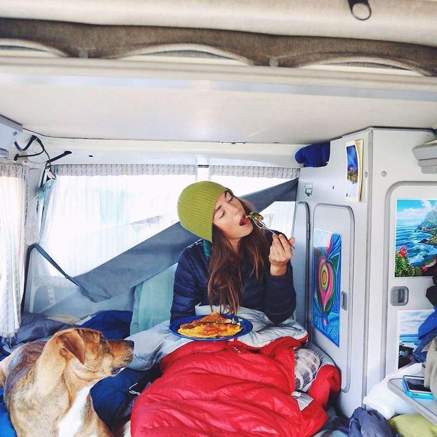 La colazione nella vita da van