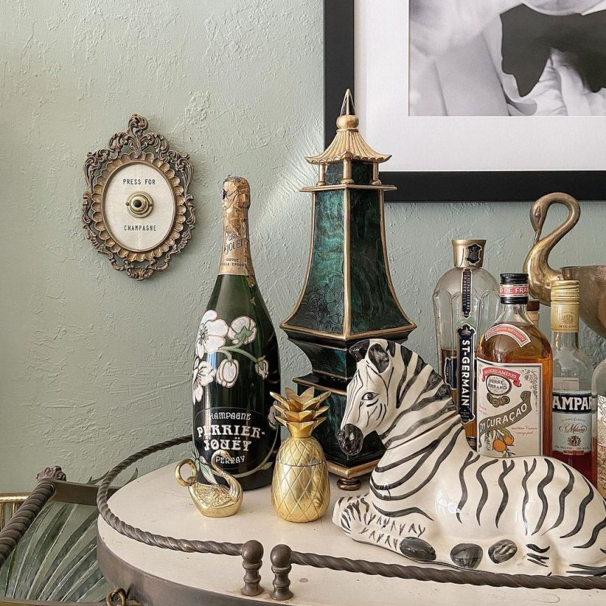 carrello vintage alcolici