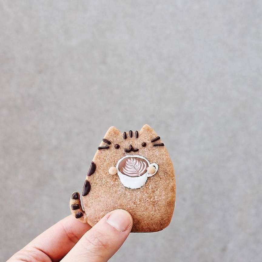 biscotto a forma di gatto