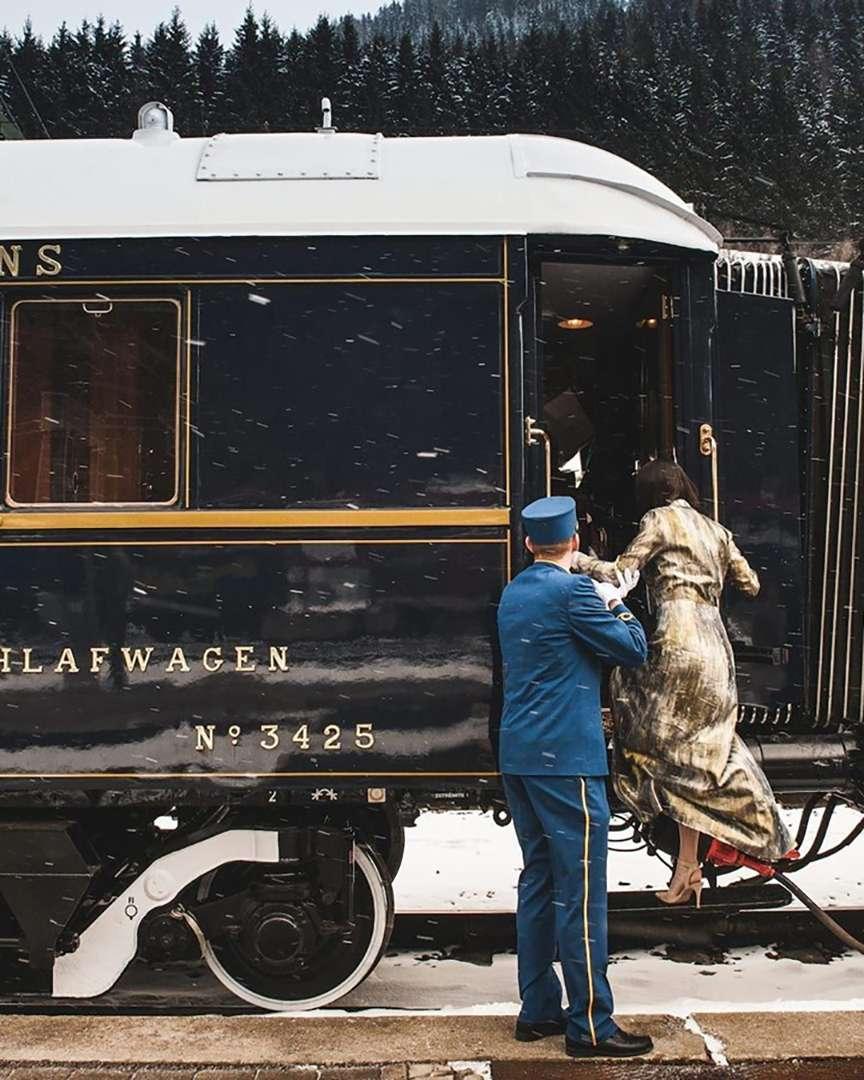 salire a bordo di un treno di lusso