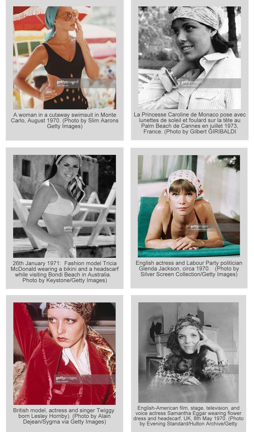 foulard in testa anni 70