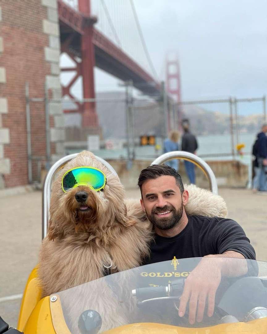 cane con proprietario