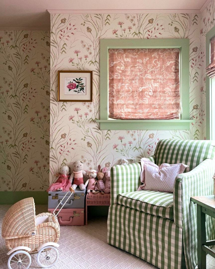 cameretta rosa e verde