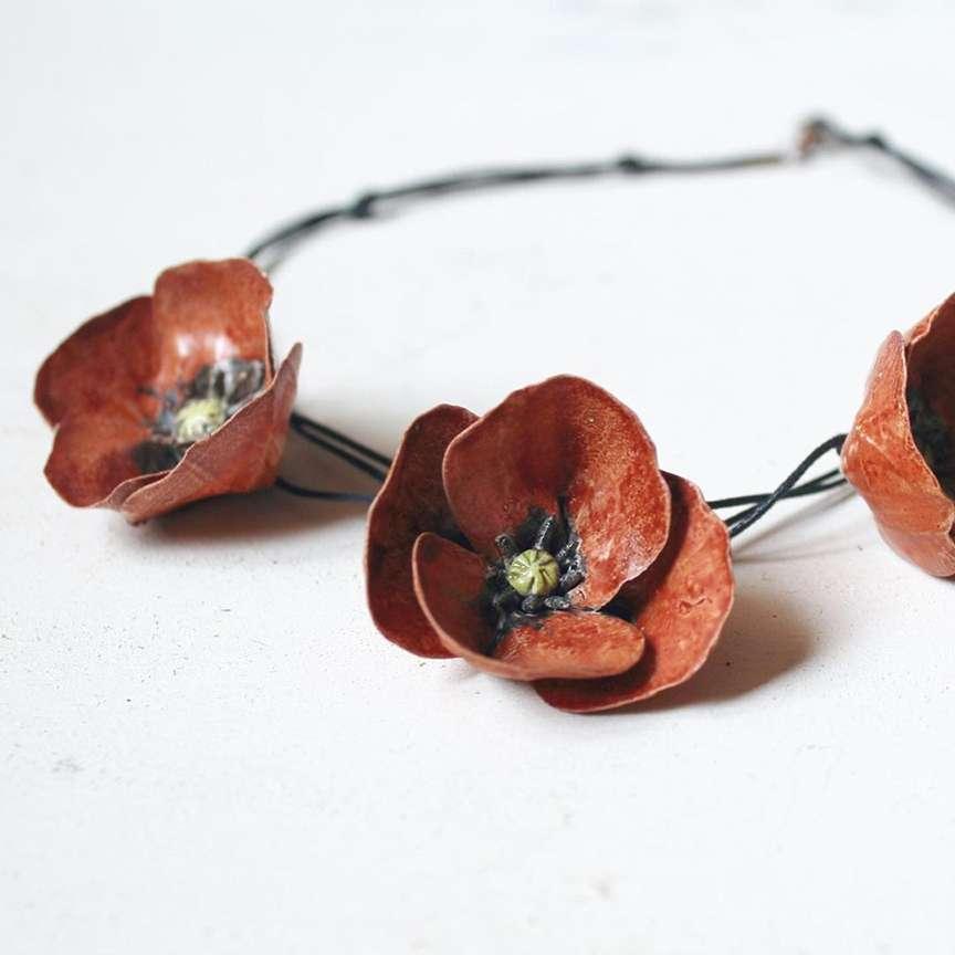 Collana in ceramica artigianale