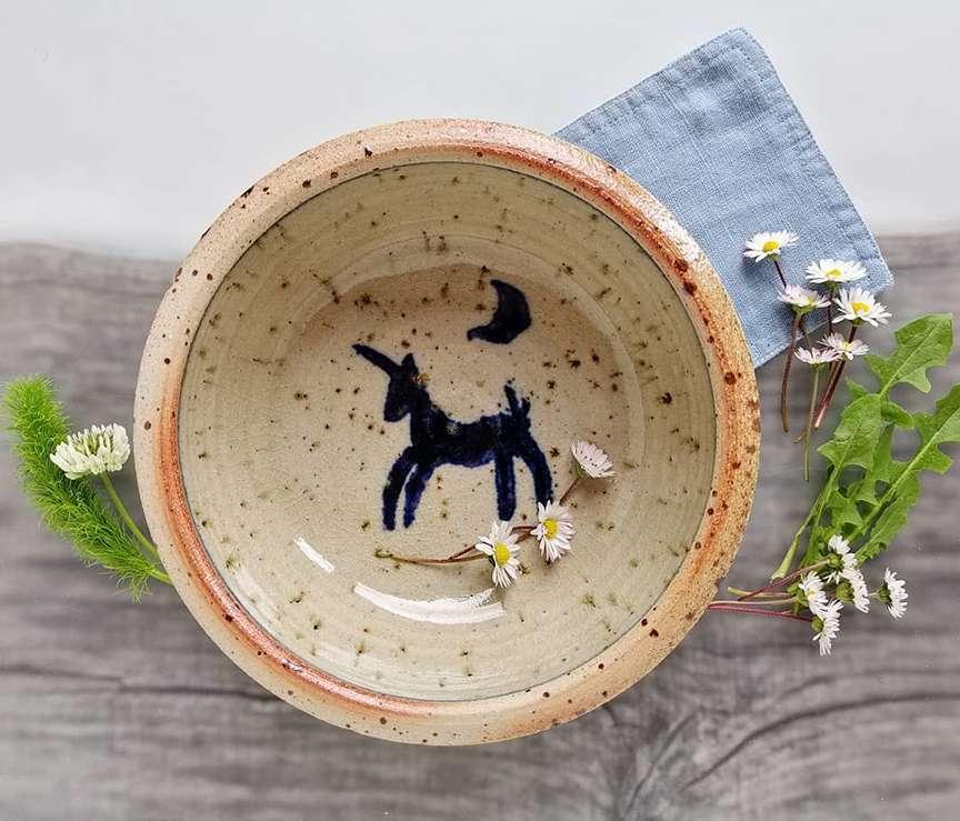 piatto con unicorno