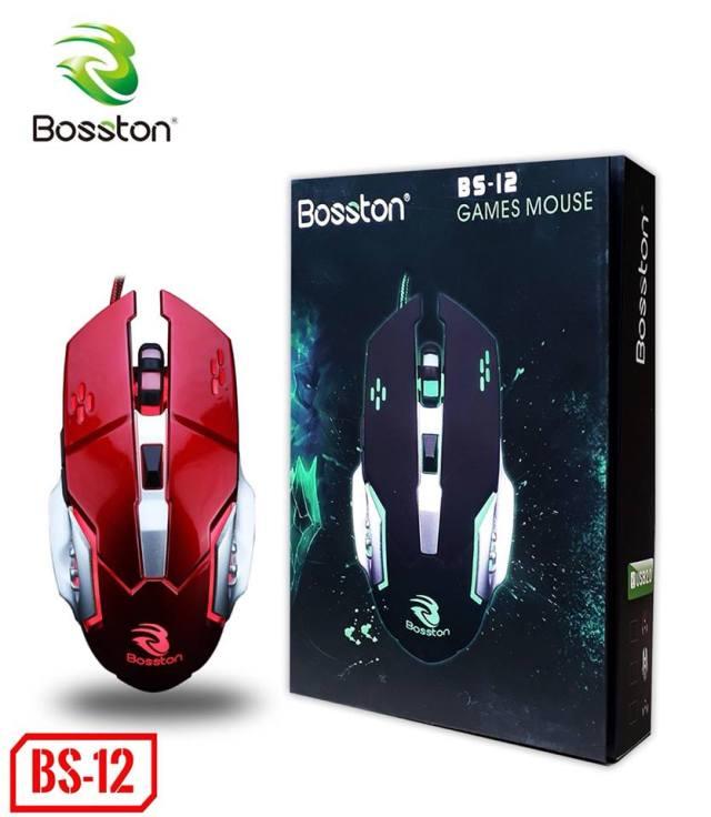 Chuột Bosston BS-12 Led RGB Gaming chính hãng