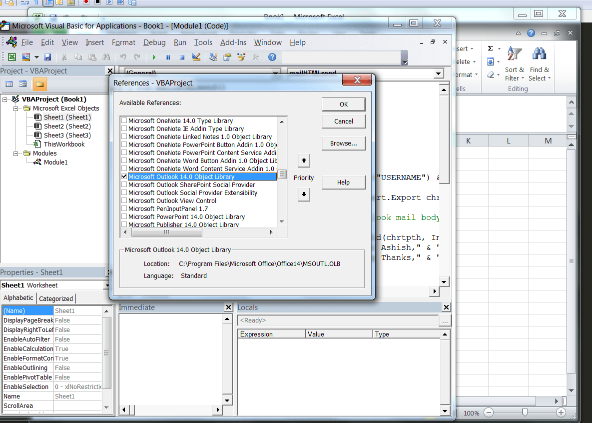 Vba Send An E Mail From Excel Using Ms Outlook And Html