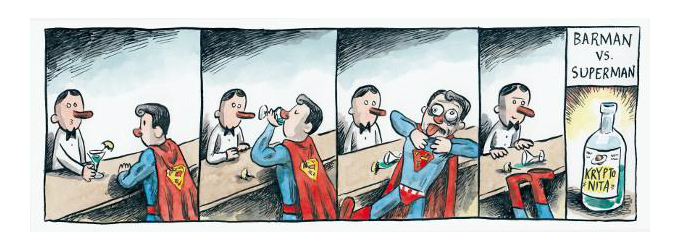 Barman vs. Superman, por Liniers