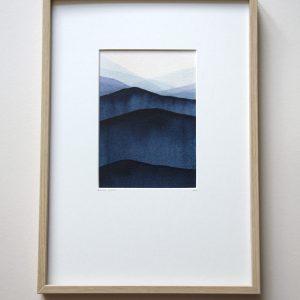 Montagne bleu