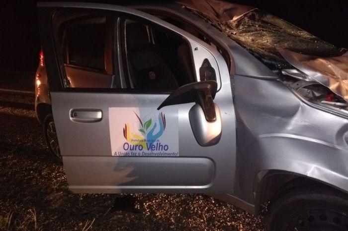 Acidente envolvendo veículo pertencente à prefeitura de Ouro Velho deixa feridos