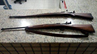Polícia Militar apreende duas armas de fogo em cidade do Cariri