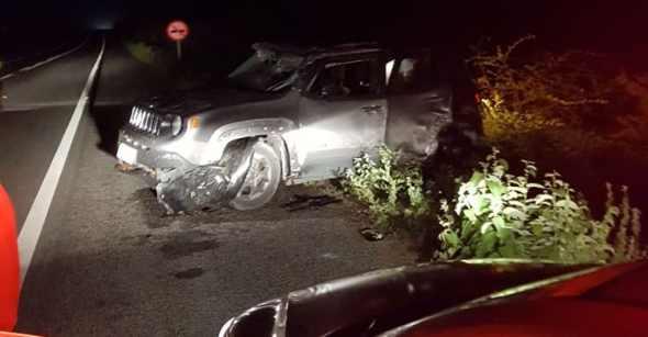 Diretor do DETRAN bate em animal e capota carro na região do Cariri paraibano
