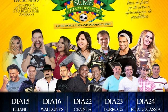 Prefeitura de Sumé divulga programação do São João 2018