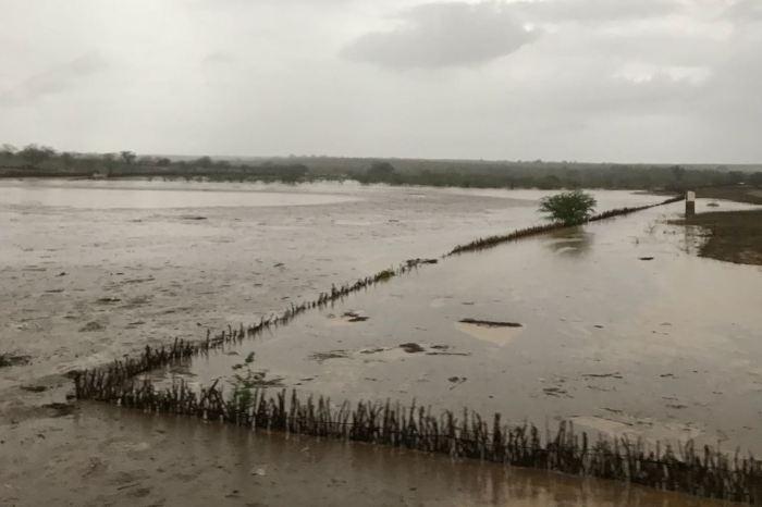 Com fortes chuvas no Cariri, manancial de Boa Vista recebe boa carga de água