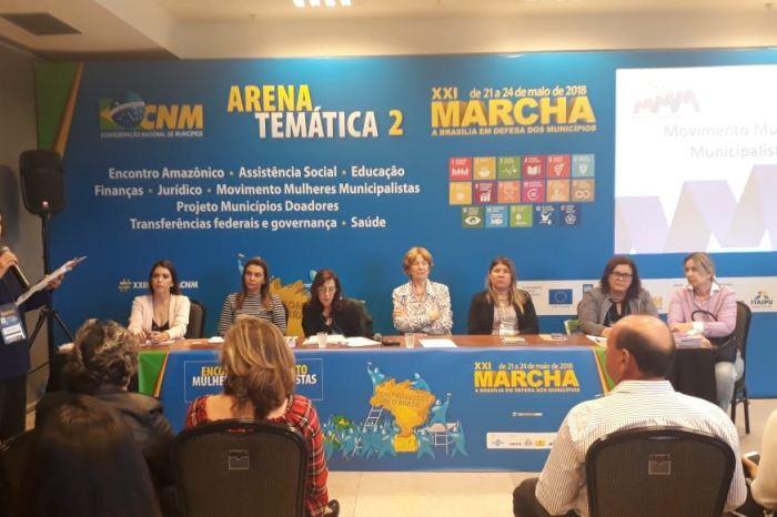 Em Brasília, Lorena participa de eventos e assegura recursos para pavimentação