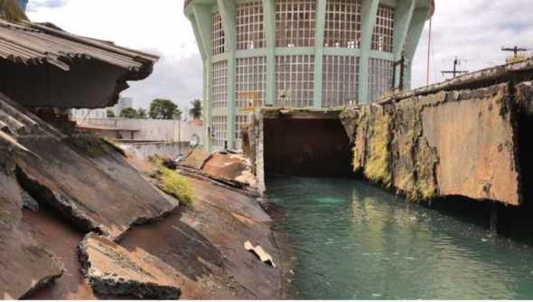 Reservatório de água da Cagepa rompe em JP e causa transtornos