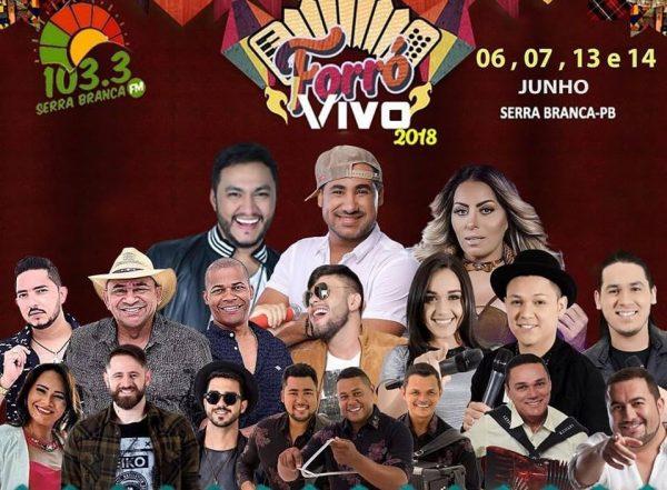 Serra Branca FM anuncia atrações de seu tradicional Forró Vivo em praça pública