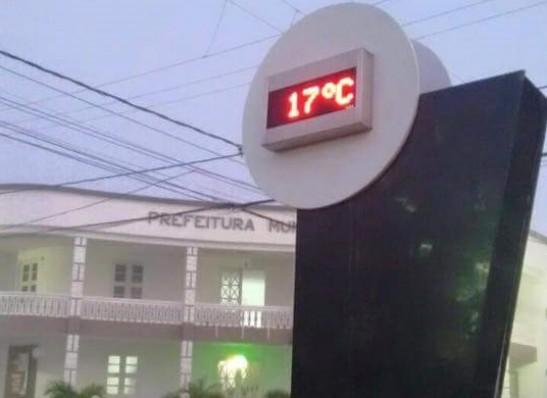 Inverno no Cariri apresenta chuvas reduzidas e temperatura mínima abaixo de 15º