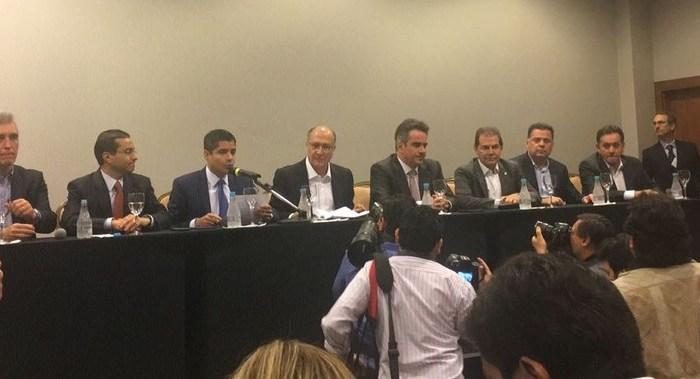 Líderes do 'Centrão' anunciam apoio à pré-candidatura de Alckmin