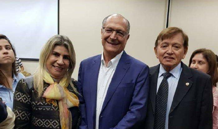 Em SP, João Henrique e Edna participam de evento com Geraldo Alckmin