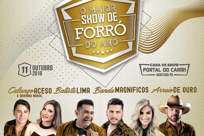 Maior Show de Forró do Ano acontece nesta quinta em Monteiro