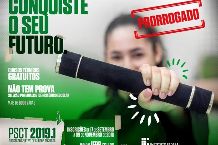 IFPB de Monteiro prorroga inscrição para vagas em cursos técnicos