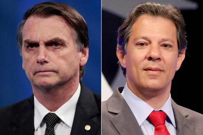 Bolsonaro e Haddad decidirão eleição para presidente no 2º turno