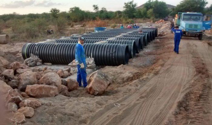 Passagem molhada sobre o Rio Paraíba deverá ser finalizada até o final do mês
