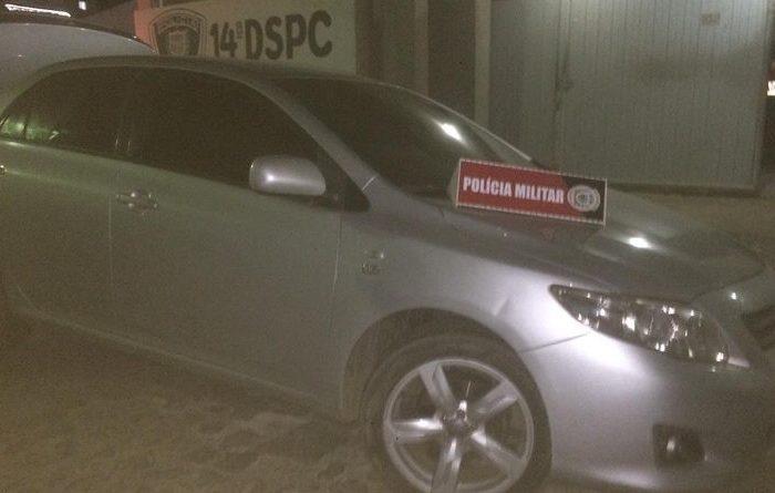 Após perseguição, Polícia apreende veículo na cidade de Monteiro