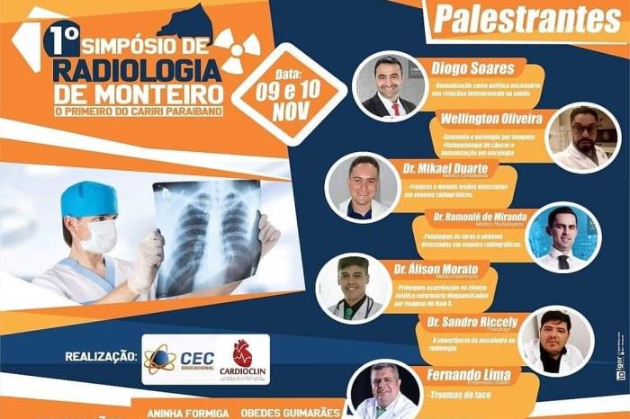 Monteiro sedia 1° Simpósio de Radiologia da região do Cariri paraibano