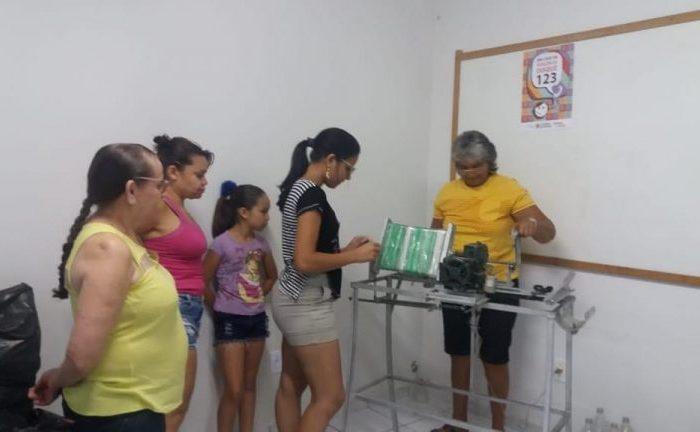 São José dos Cordeiros investe em máquina para produção de vassouras com garrafas pet